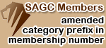 SAGC membership number amended